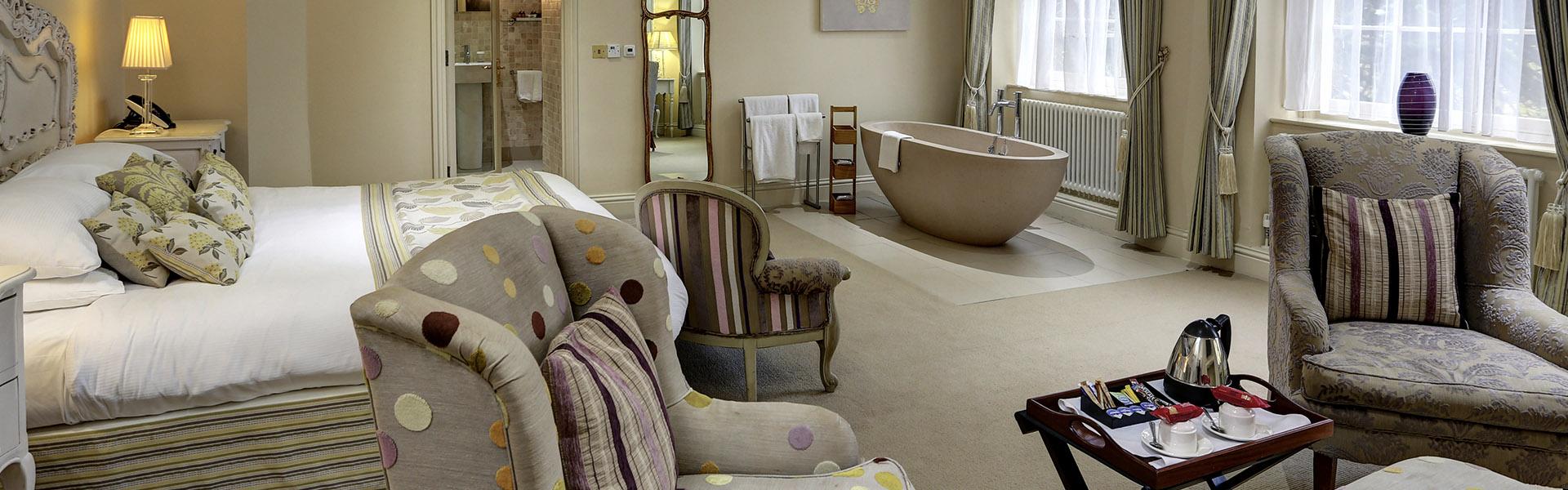 Luxury bedrooms at Mosborough Hall Hotel Vine Hotel Management