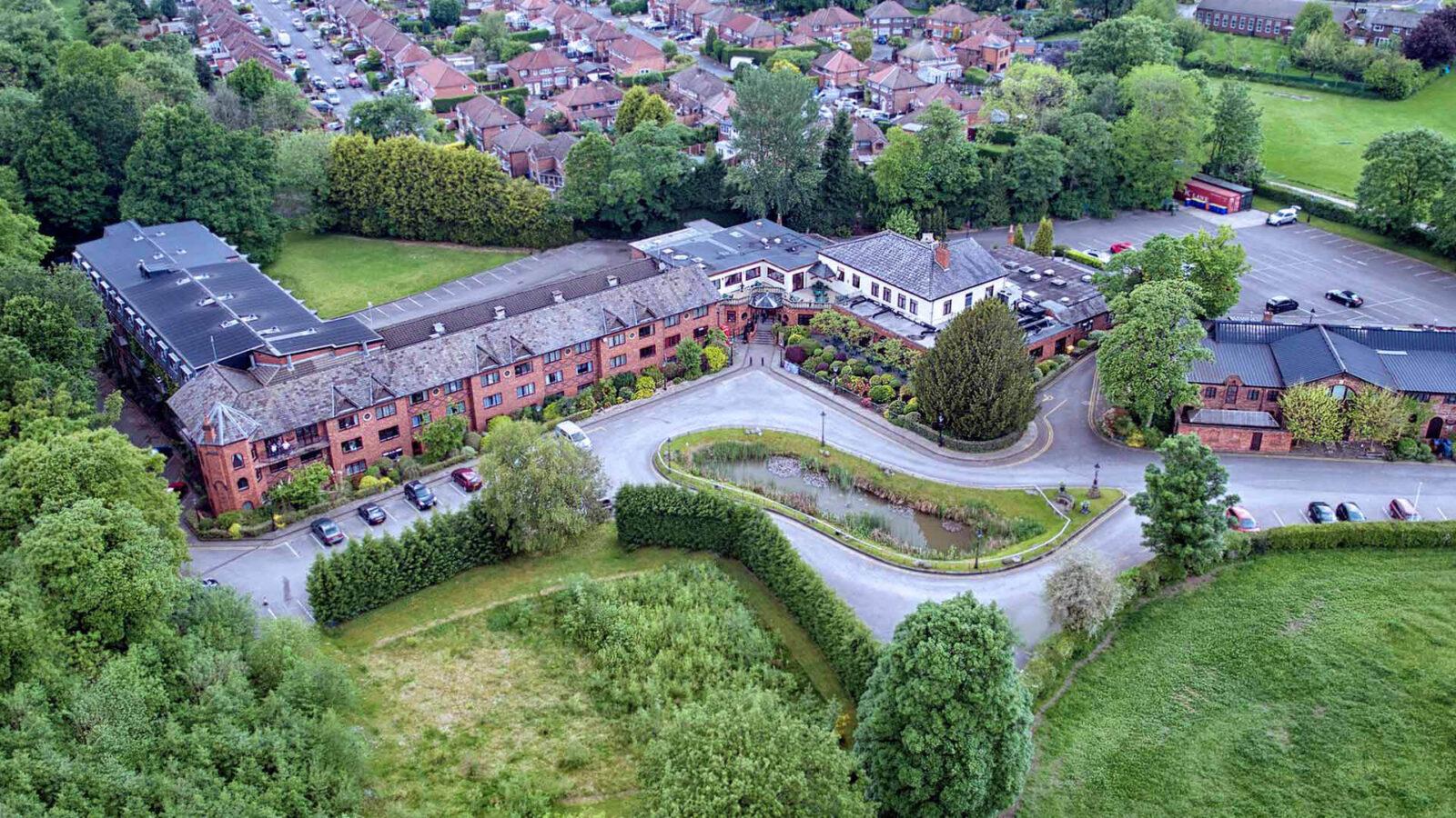 Bredbury Hall Hotel Stockport -Aerial-Image-1