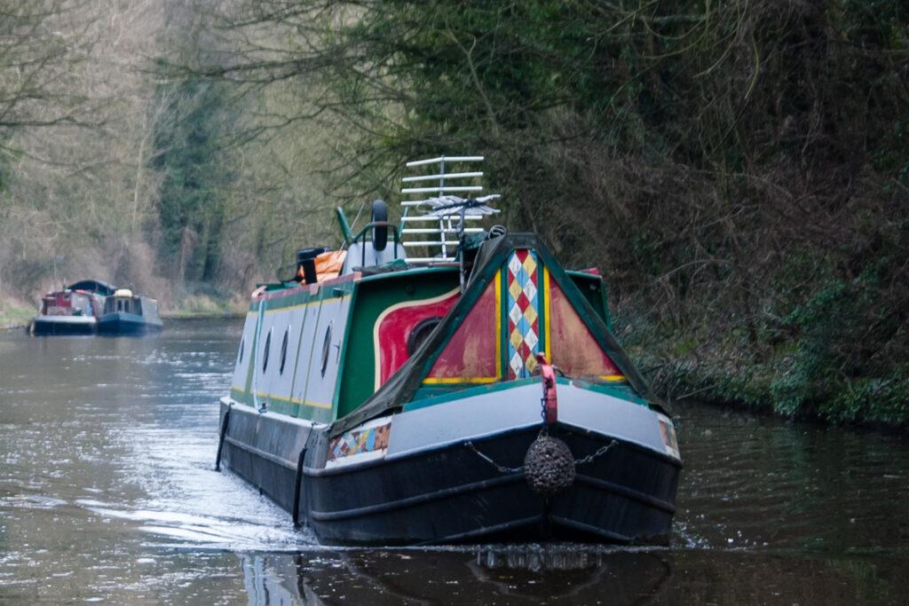 Narrow boat in Derbyshire