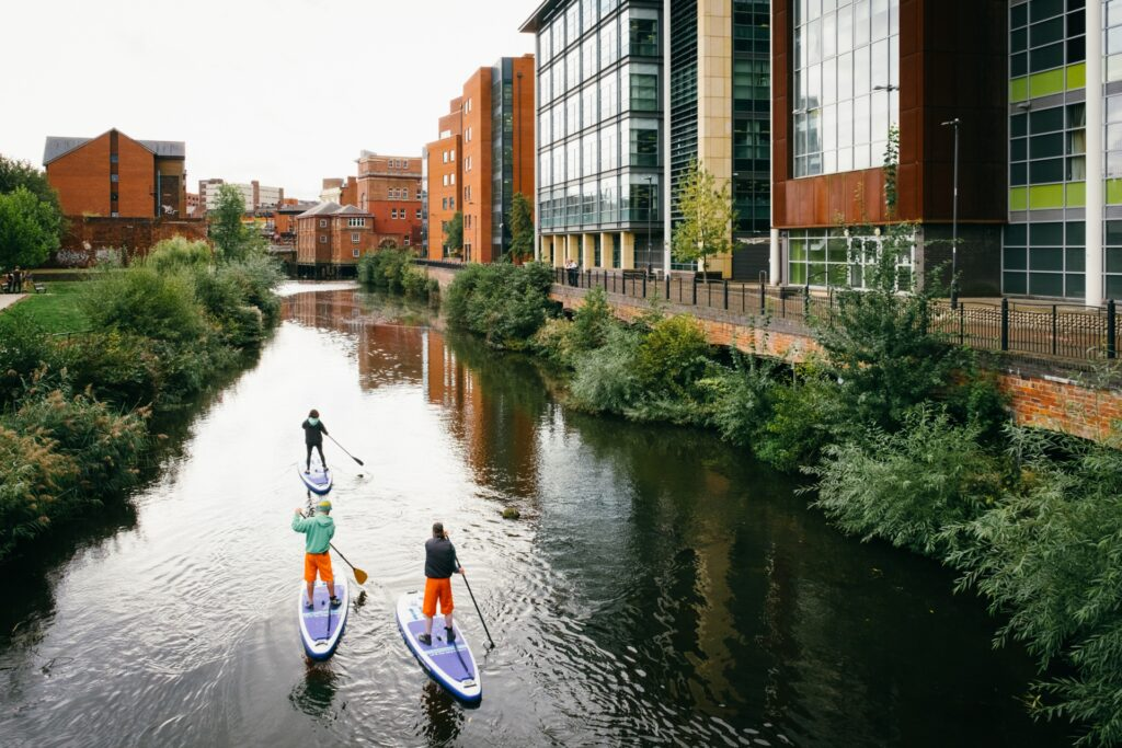 Paddle boating in SHeffield